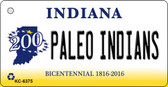 Paleo Indians Indiana State License Plate Novelty Wholesale Key Chain KC-6375