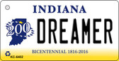 Dreamer Indiana State License Plate Novelty Wholesale Key Chain KC-6402