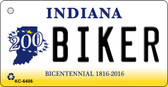 Biker Indiana State License Plate Novelty Wholesale Key Chain KC-6406