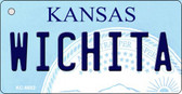 Wichita Kansas State License Plate Novelty Wholesale Key Chain KC-6602