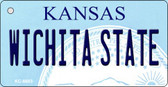 Wichita State Kansas State License Plate Novelty Wholesale Key Chain KC-6603