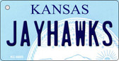 Jayhawks Kansas State License Plate Novelty Wholesale Key Chain KC-6605