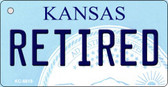 Retired Kansas State License Plate Novelty Wholesale Key Chain KC-6618