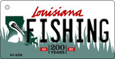 Fishing Louisiana State License Plate Novelty Wholesale Key Chain KC-6206