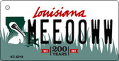 Meeooww Louisiana State License Plate Novelty Wholesale Key Chain KC-6218