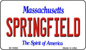 Springfield Massachusetts State License Plate Wholesale Magnet M-10992