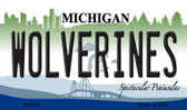 Wolverines Michigan State License Plate Novelty Wholesale Magnet M-6108