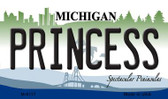 Princess Michigan State License Plate Novelty Wholesale Magnet M-6117