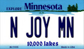 N Joy MN Minnesota State License Plate Novelty Wholesale Magnet M-11035