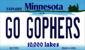 Go Gophers Minnesota State License Plate Novelty Wholesale Magnet M-11054