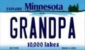 Grandpa Minnesota State License Plate Novelty Wholesale Magnet M-11059