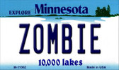 Zombie Minnesota State License Plate Novelty Wholesale Magnet M-11062