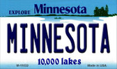 Minnesota State License Plate Novelty Wholesale Magnet M-11032