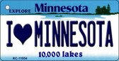 I Love Minnesota State License Plate Novelty Wholesale Key Chain KC-11034