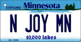 N Joy MN Minnesota State License Plate Novelty Wholesale Key Chain KC-11035