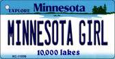 Minnesota Girl Minnesota State License Plate Novelty Wholesale Key Chain KC-11036