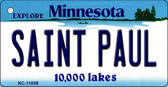 Saint Paul Minnesota State License Plate Novelty Wholesale Key Chain KC-11038