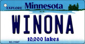Winona Minnesota State License Plate Novelty Wholesale Key Chain KC-11047