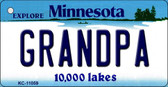 Grandpa Minnesota State License Plate Novelty Wholesale Key Chain KC-11059