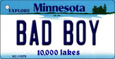 Bad Boy Minnesota State License Plate Novelty Wholesale Key Chain KC-11078