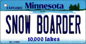 Snow Boarder Minnesota State License Plate Novelty Wholesale Key Chain KC-11083
