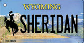 Sheridan Wyoming State License Plate Wholesale Key Chain