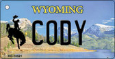 Cody Wyoming State License Plate Wholesale Key Chain