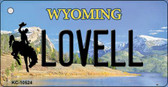 Lovell Wyoming State License Plate Wholesale Key Chain