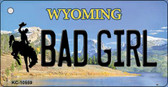 Bad Girl Wyoming State License Plate Wholesale Key Chain