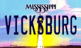 Vicksburg Mississippi State License Plate Wholesale Magnet M-6558