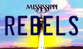 Rebels Mississippi State License Plate Wholesale Magnet M-6564
