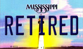 Retired Mississippi State License Plate Wholesale Magnet M-6572