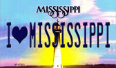 I Love Mississippi State License Plate Wholesale Magnet M-6581