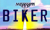 Biker Mississippi State License Plate Wholesale Magnet M-6592