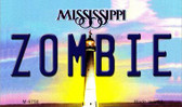 Zombie Mississippi State License Plate Wholesale Magnet M-6750