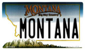Montana State License Plate Novelty Wholesale Magnet M-11085