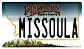 Missoula Montana State License Plate Novelty Wholesale Magnet M-11091