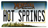 Hot Springs Montana State License Plate Novelty Wholesale Magnet M-11101