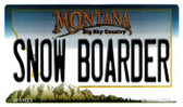 Snow Boarder Montana State License Plate Novelty Wholesale Magnet M-11123