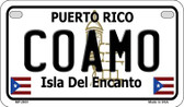 Coamo Puerto Rico State Wholesale Motorcycle License Plate MP-2831