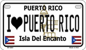 I Love Puerto Rico Puerto Rico State Wholesale Motorcycle License Plate MP-6867