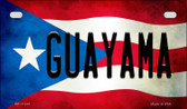 Guayama Puerto Rico State Flag License Plate Wholesale Motorcycle License Plate MP-11344