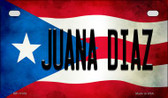 Juana Diaz Puerto Rico State Flag License Plate Wholesale Motorcycle License Plate MP-11353