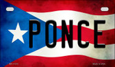 Ponce Puerto Rico State Flag License Plate Wholesale Motorcycle License Plate MP-11372