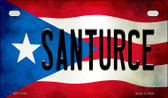 Santurce Puerto Rico State Flag License Plate Wholesale Motorcycle License Plate MP-11399