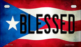 Blessed Puerto Rico State Flag License Plate Wholesale Motorcycle License Plate MP-11406