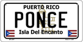 Ponce Puerto Rico State Wholesale Bicycle License Plate BP-2867