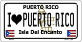 I Love Puerto Rico Puerto Rico State Wholesale Bicycle License Plate BP-6867