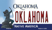 Oklahoma State License Plate Novelty Wholesale Magnet M-6219