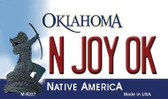 N Joy OK Oklahoma State License Plate Novelty Wholesale Magnet M-6227